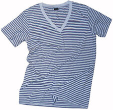 PAUL SMITH MAINLINE LIGHTWEIGHT STRIPED COTTON T-SHIRT / TOP Sz - L fitted RARE