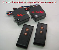 12v dry contact switch 1ch on-off 1ch momentary with 2 long range remote RP800P2