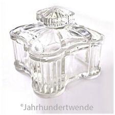 Antike Preßglas Deckeldose Klarglas Glas Dose um 1900 antique glass box 🍀🍀🍀