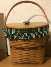 Longaberger - Holiday Hostess Winter Wishes Basket with Lid, Liner and Protector