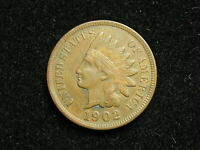 MARKED DOWN!!  XF 1902 INDIAN HEAD CENT PENNY w/ DIAMONDS & FULL LIBERTY #161i