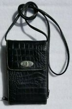 Wallet Purse 4 Cards Cash Coins Checkbook Glasses 3 zippers Crossbody Snaps etc.