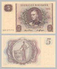 Schweden / Sweden 5 Kronor 1963 p50b unc