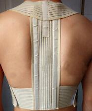 Men Adjustable Metal Posture Back Support Corrector Brace Shoulder Band Belt BC