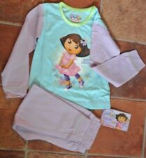 New girl Nickelodeon DORA 100% cotton pyjamas mauve/pale blue18-24 months