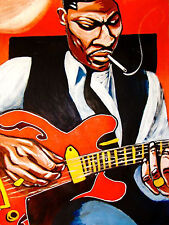 B. B. KING PRINT poster king of the blues gibson archtop guitar the best of cd