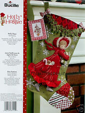 "Bucilla Holly Hobbie Days ~ 18"" Felt Christmas Stocking Kit #86144, Patchwork"