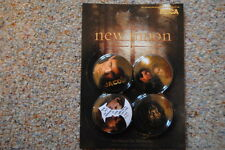 TWILIGHT NEW MOON JACOB 4 x BADGE PACK NEW OFFICIAL