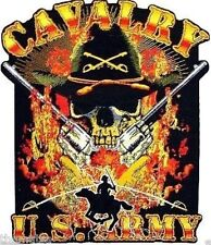 ARMY CAVALRY SKULL HELMET TOOLBOX USA MADE BUMPER STICKER DECAL
