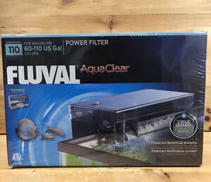Fluval AquaClear 110 Power Filter for 60-110 US Gal Aquariums 500 GPH A620