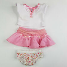 Build a Bear Workshop Sequin Polo Shirt Corduroy Skirt Hello Kitty Underwear