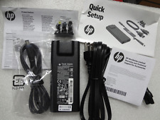 Genuine HP 90W Slim Travel AC Adapter charger & smart Cables 616072-001 BT798AA