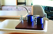Camco 43436 Sink Cover Bordeaux Finish RV more counter space Camper Boat Trailer