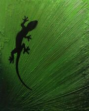 GECKO - Original textured painting on canvas by CARL WEST £100 OFF