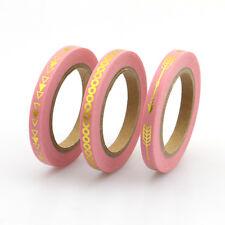 SALE! 3 rolls Mint Pink Black Slim Foil Washi Tape Paper Set 5mm*10m for craft