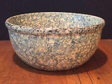 "Antique Kitchen Pottery Spongeware Mixing Bowl 10"""