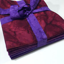 10 Fat Quarter Batik Sampler Artful Edge Red Purple Special Edition with Free Shipping