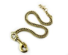 Solid Brass Gold Wallet Chain Men Biker Trucker Chopper Gothic Heavey Duty