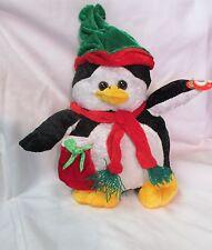 "Vintage  Greenbrier Cuddly Cousins Plush Christmas Penguin ~9"""