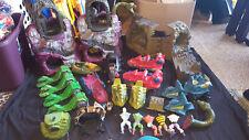 Vintage Mattel He-Man MOTU Lot Snake Mountains,Hordaks Fright Zone,Battle Ram +