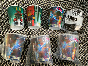 Bulk Lot Of Lego Cups Holographic Lego Movie 2014 & 2013