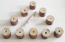 10 PCS 120 Grit Flap Wheels Sanding Brush Bits Grinding for Rotary Multi Tool