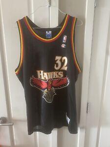 Vintage Champion Christian Laettner Atlanta Hawks Jersey Size 48 Rare