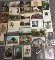 Lot Of Mixed Antique And Vintage Postcards-RPPC-Linen