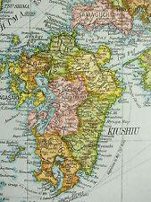 1919 Large Map ~ Japan ~ Honshiu Kiushiu Shikoku Yezo Population Density