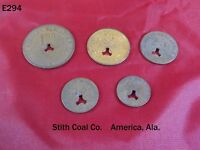 VINTAGE COAL SCRIP TRADE TOKEN CURRENCY LOT STITH AMERICA ALABAMA LEE RODGERS
