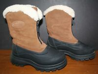 Women's Duck Boots Suede Snowmobile Boots THOM McAn 9 Thermolite NM Zip up