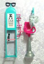 Mattel BARBIE EYE DOCTOR ACCESSORIES - with 3 Pair of Kelly Doll Eye Glasses