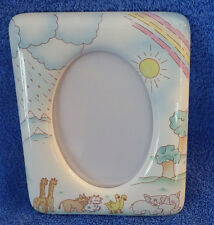 "Animals Giraffe Elephant Child Picture Frame 7"" x 5.25"" Holds 3.75"" x 5"" Photo"