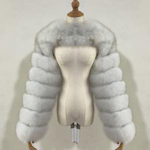 Women's Clothing Warm Real Foxs Fur Sleeve Ladies Fashion Two Sleeve -Customize