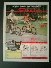 1967 Schwinn Fastback Sting Ray Bicycles~Bikes Promo Toy Memorabilia Trade AD