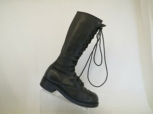 Black Leather Laces Riding Equestrian Boots Mens Size 9.5 R