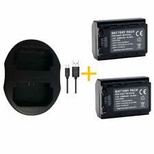 2X Battery + USB Dual charger For Sony NP-FZ100 A7 III A7M3 A7R III A7RM3 A9 new