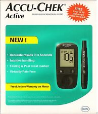 Accu-Chek Gluco Meter Active Blood Glucose Monitoring + 10 Lancets & 10 Strips
