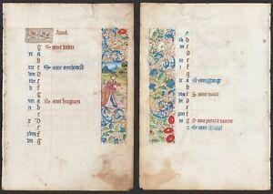 Book of Hours Stundenbuch Handschrift manuscrit manuscript miniature 15.Jh. März