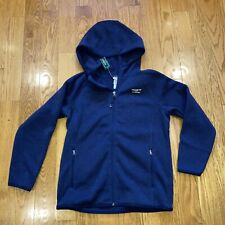 Ll Bean Youth Sweater Fleece Size Large Blue