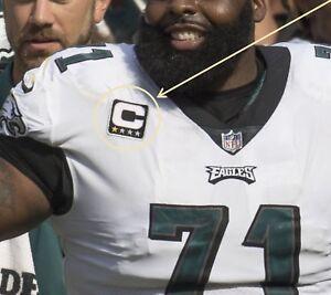 NFL 2017 SEASON PHILADELPHIA EAGLES' Jason Peters 1-⭐CAPTAIN IRON-ON C-PATCH