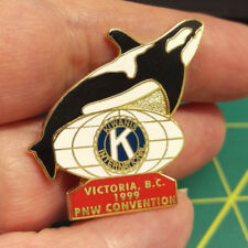 Kiwanis Pin - Kiwanis International Victoria BC 1999 PNW Convention Orca pin