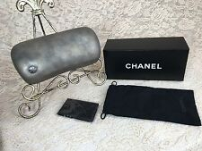 Chanel Silver Sunglasses Eyeglass Case Kit Travel Mothers Day Diva Made in Italy