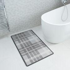 NEW Modern Grey Tartan Non Slip Rubber Backing Home Floor Rug Mat for Hard Floor