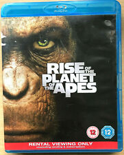 Rise of the Planet of the Apes Blu-ray 2011 Sci-Fi Film Movie Rental Version