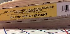 "45"" Beige UNBLEACHED 200 Thread Count 100% COTTON  MUSLIN Perma Press"