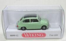 Fiat 600 blanco verde Wiking 009902 escala H0 1 87 coche a modelo de