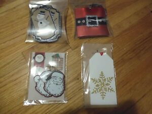 New ! Gift Tags Assorted Snowman snowflake Wood Tags Santa Clause