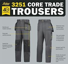 Snickers 3251 Core Craftsman HP Trousers 39w X 32 Leg
