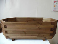 *Octagonal Wooden Plant Pot / Box / Patio or Decking Planter*